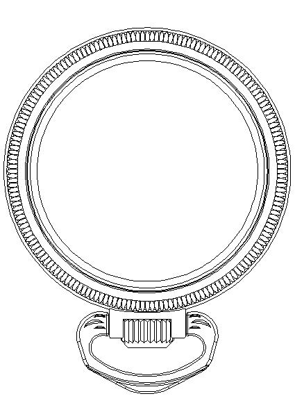 30mm表盘石英机芯不锈钢怀表