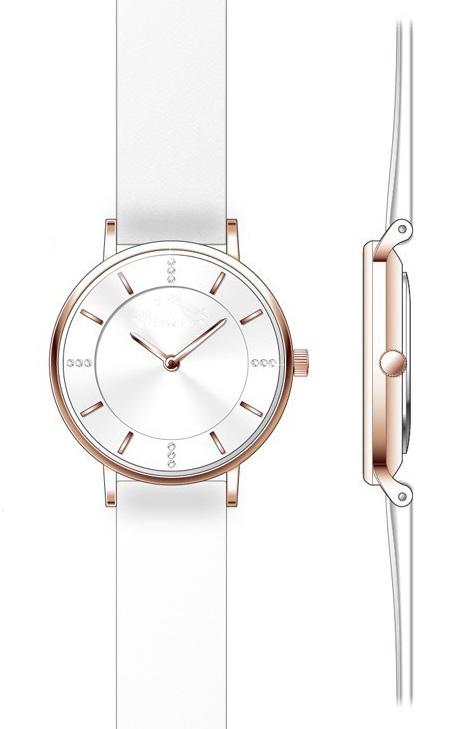 女士时装手表两针石英表31.0mm表盘DH07236L